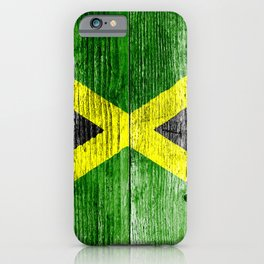 Jamaica Flag Grungy Distressed Board iPhone Case