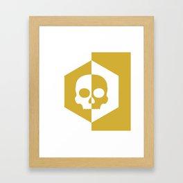 Honey Skulls Duality V1 Framed Art Print