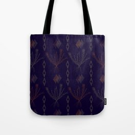 Purple Weeds Tote Bag