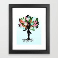 tree pose Framed Art Print