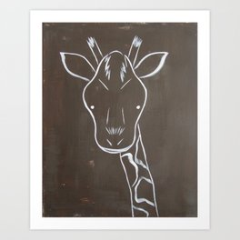 No. 004 - The Giraffe (Modern Kids & Nursery Art) Art Print