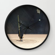 Golden Witch Doctor Wall Clock