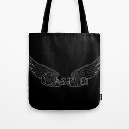 Castiel with Wings Black Tote Bag