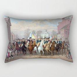 General Washington Enters New York Rectangular Pillow