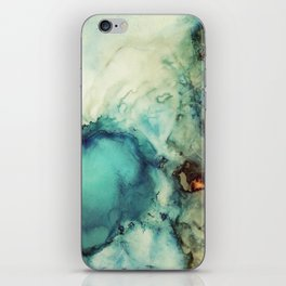 Teal Abstract iPhone Skin