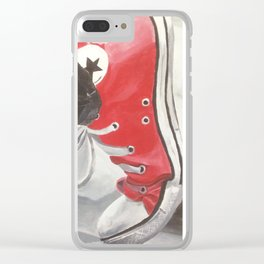Red Allstars Clear iPhone Case