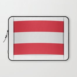 Flag of Austria. The slit in the paper with shadows.  Laptop Sleeve