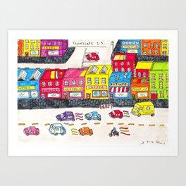 Handmade town Art Print