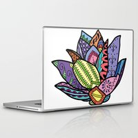 lotus flower Laptop & iPad Skins featuring Lotus by Ilse S