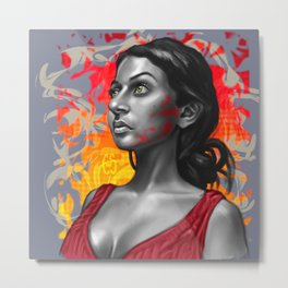 Paola- Red Paint Metal Print