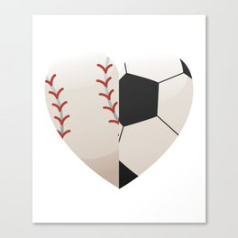 Soccer Baseball Heart Mom - Mothers Day Gifts Canvas Print