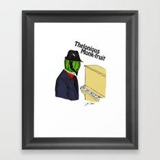 thelonious monk-fruit Framed Art Print