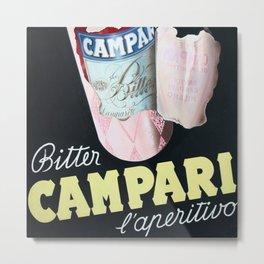 Vintage Italian Campari Bitters Advertisement Metal Print
