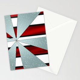 4Shades Glass: Red B/W Reverse Stationery Cards