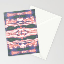 Dye Waves Coral, Blue, Green Stationery Cards