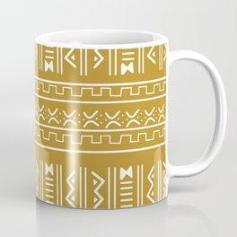 Bogolan pattern mustard Coffee Mug