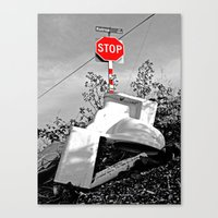 toilet Canvas Prints featuring Roadside toilet by Vorona Photography