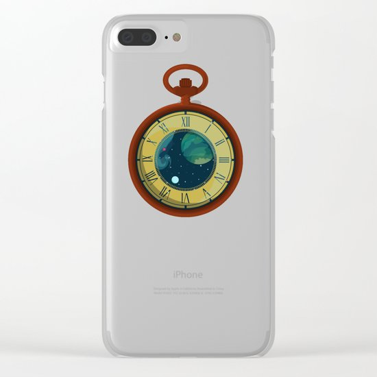 Cosmic Pocket Watch Clear iPhone Case