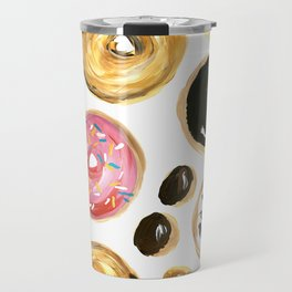 Colorful donuts with sprinkles Travel Mug