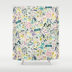 Heels and Handbags (sweet) Shower Curtain