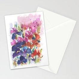 Pink Iris Splash Stationery Cards