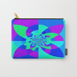Orchid Aqua Turquoise Kaleidoscope Carry-All Pouch