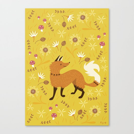 Cute as a Fox Canvas Print