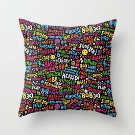 Acid! Throw Pillow