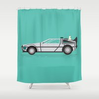 back to the future Shower Curtains featuring Back to The Future by HypersVE