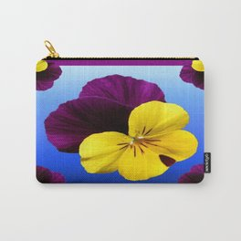 Decorative Shaded Blur Yellow-Purple Violas Art Carry-All Pouch