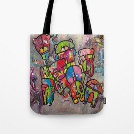 Robot bears Tote Bag