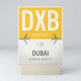 Dubai airport code DXB Mini Art Print