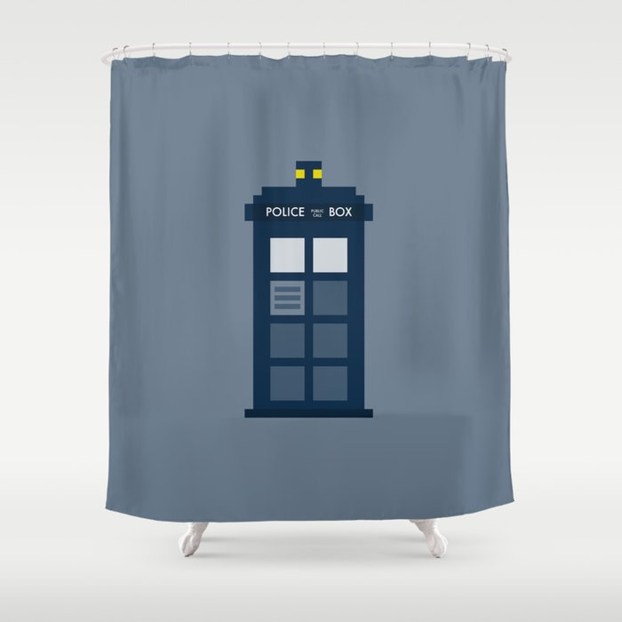 Doctor Who Tardis Shower Curtain By Breakfaststudio Society6