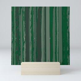 Painted Green Stripes Mini Art Print