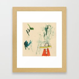 Fingers Crossed for a Thunderstorm Framed Art Print
