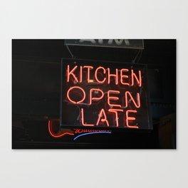 Kitchen Open Late Canvas Print