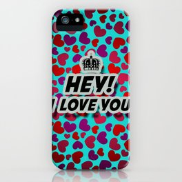 """I Love You """"Hearts"""" iPhone Case"""