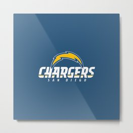 CHARGERS NFL Metal Print