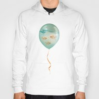 balloon Hoodies featuring balloon fish 03 by Vin Zzep