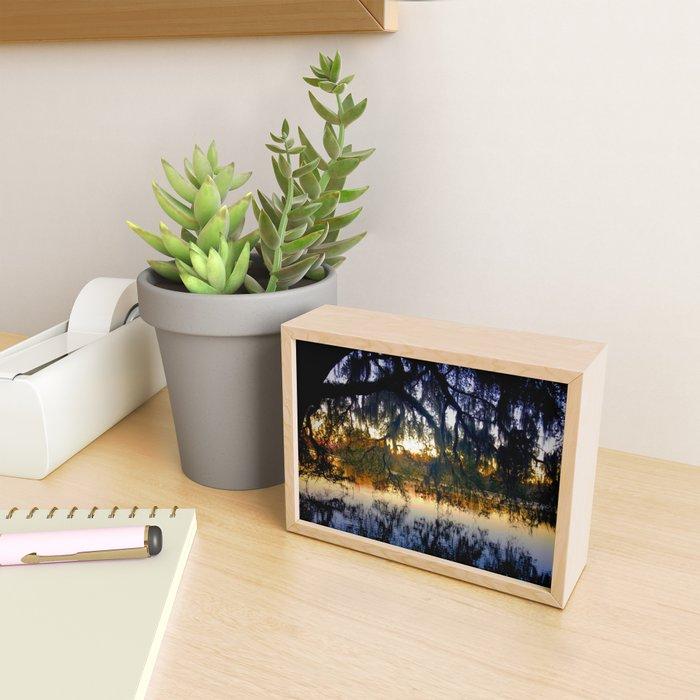 Sunset at Lake Alice - Gainesville Florida Framed Mini Art Print