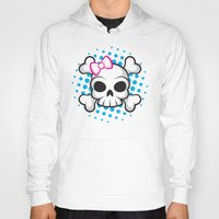 girly Hoodies featuring Girly Skull by ZombieGirl