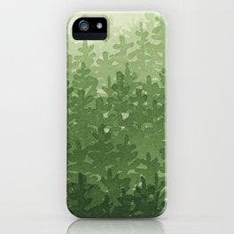 getting cozy in the forest iPhone Case