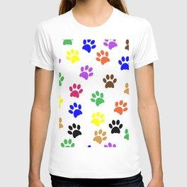 COLORFUL PAW PRINTS T-shirt
