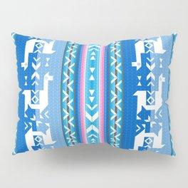 Llamas_Pink and BlueSky Pillow Sham
