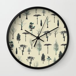 trpical trees Wall Clock