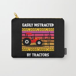 Easy Distracted By Tractors Truck Farm Carry-All Pouch