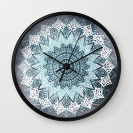 BOHOCHIC MANDALA IN BLUE Wall Clock
