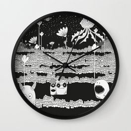 Night Forest Wall Clock