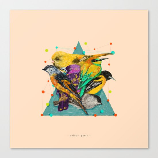 Colour Party Canvas Print