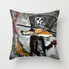 Dandy Fox Demonic Throw Pillow